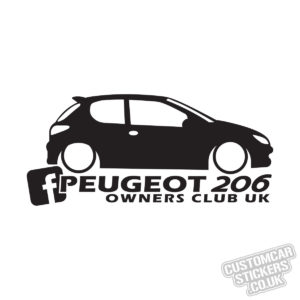 Peugeot 206 Owners Club Uk Custom Car Stickers